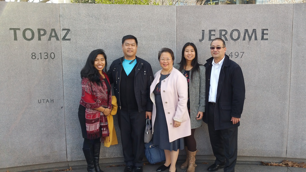 Ben (second from left) with members of AARP's AAPI Community staff.